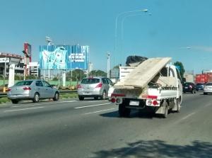 camión carga