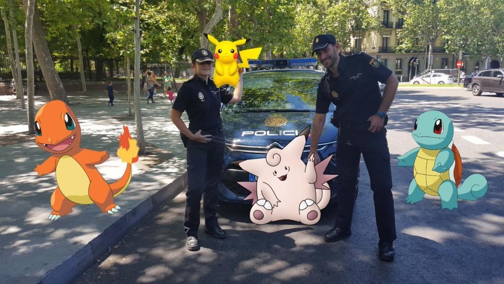 españa pokemon policía