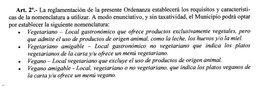ley de rosario vegetariana